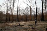 Bushfire aftermath at Batemans Bay, NSW